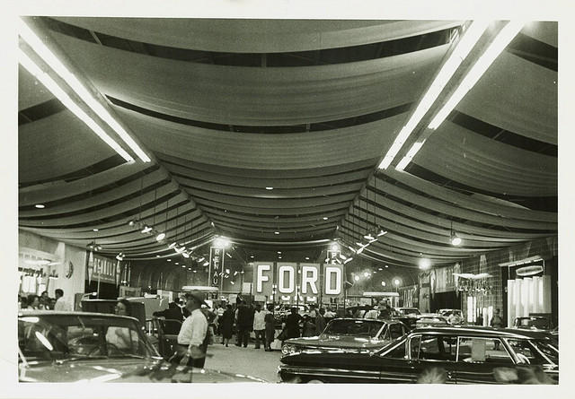 1960, inside the auto show in Detroit