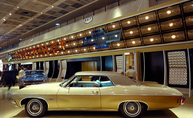 1970, Chevrolet display at Cobo Hall.