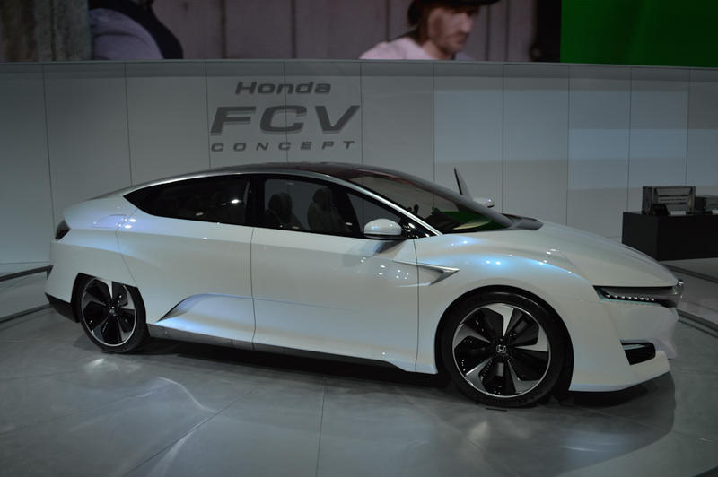 The Honda FCV concept car is a hydrogren-powered vehicle.