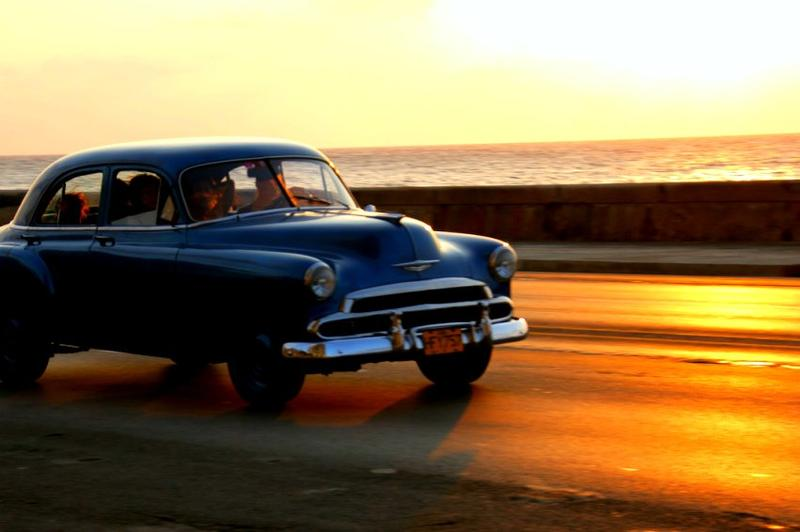 A sunset in Havana.