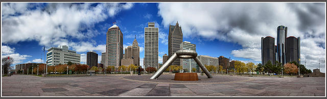 Hart Plaza in Detroit.