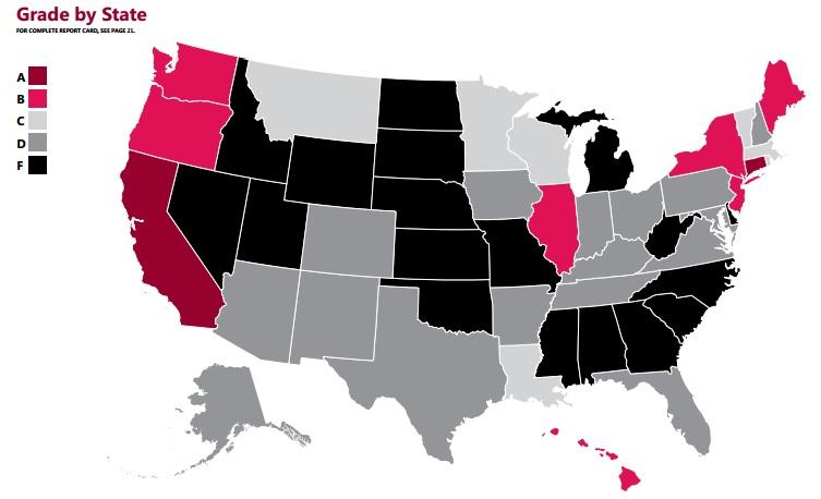 map of maternity leave by state