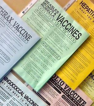 Vaccine informational sheets.