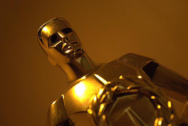 close up of an academy award statue