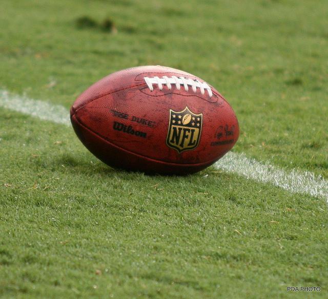 nfl football on field