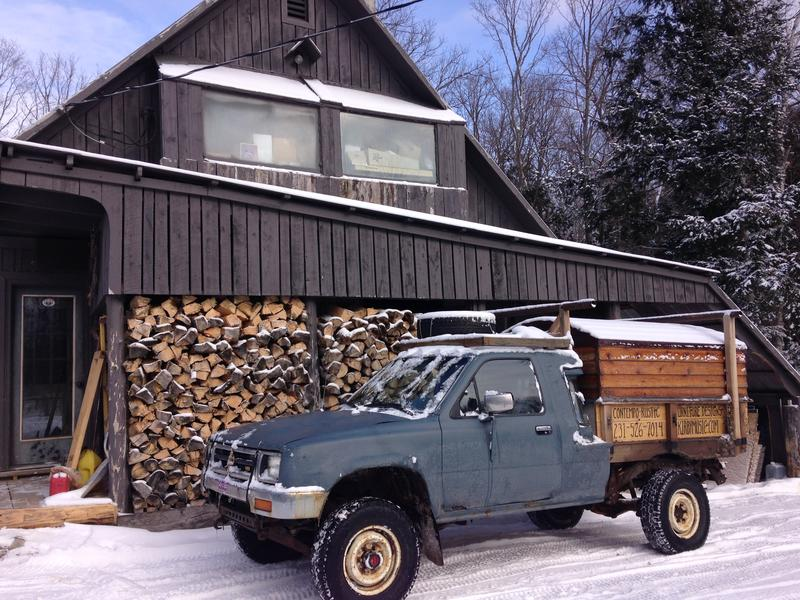 Kirby Snively spends his time in the winter making hand crafted furniture in his shop
