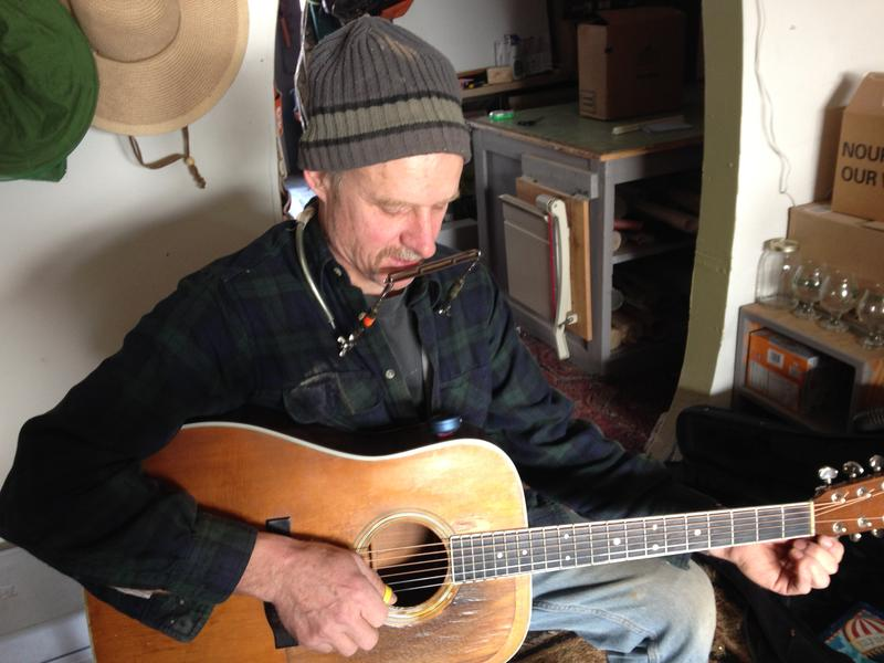 Kirby Snively plays a song he wrote