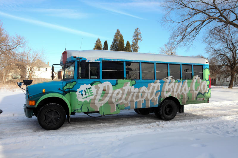 One of Detroit Bus Company's eight buses.