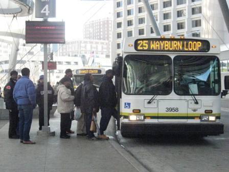 A bus terminal in Detroit.