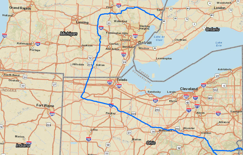 Original plan for natural gas pipeline route. This plan has now changed.