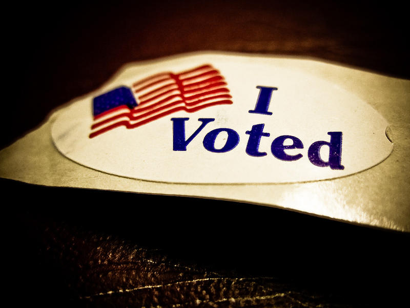 "An ""I Voted"" sticker."