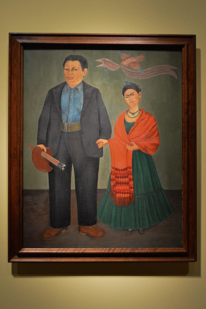 A painting of Frida Kahlo and Diego Rivera, done by Kahlo.