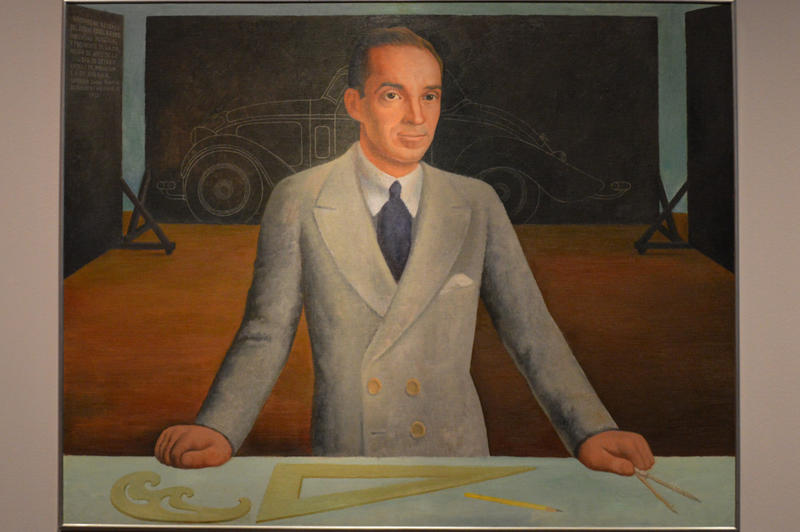 A portrait of Edsel Ford, by Rivera.