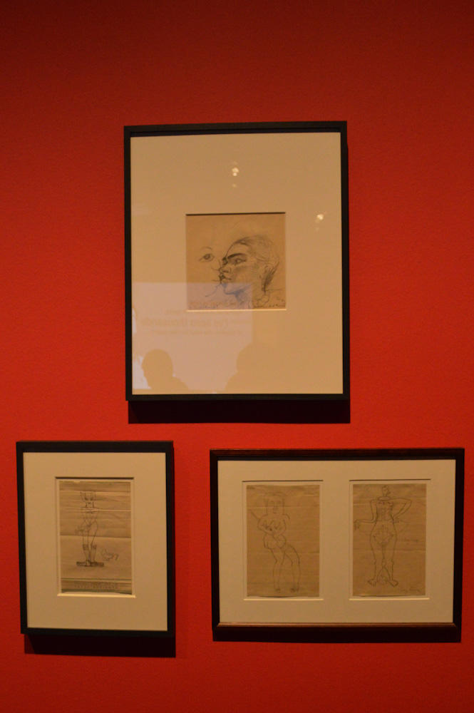 Sketches done by Kahlo and her friend, Lucienne Bloch.