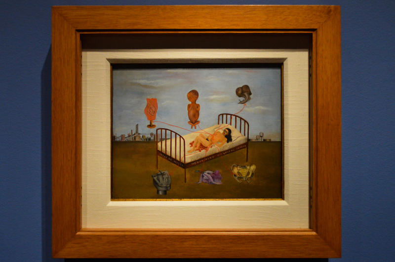 A painting by Kahlo called Henry Ford Hospital, depicting the loss of her child.
