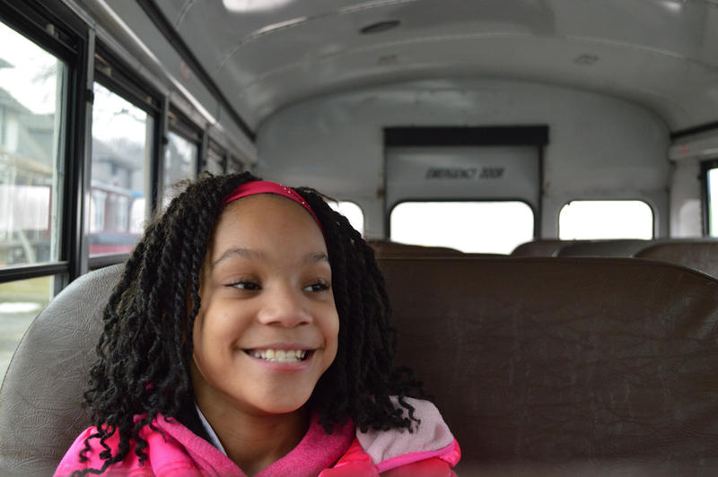 Bailee Williams rides the YTA bus to her after-school dance class.