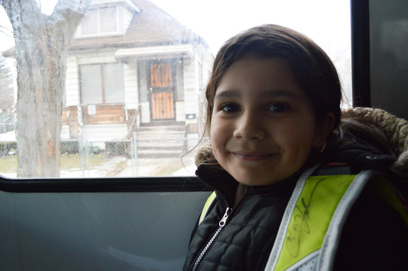 YTA rider Natalia Estrella takes the bus to soccer.