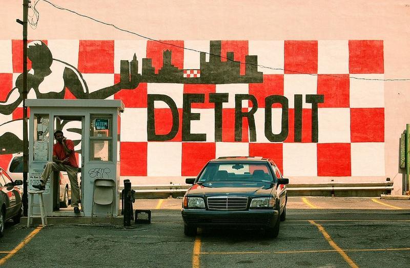 A scene in Detroit.