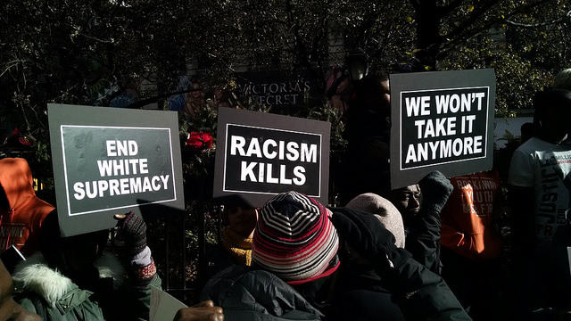 From a Ferguson protest in New York City.