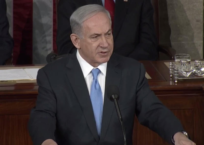 Israeli Prime Minister Benjamin Netanyahu speaks to Congress.