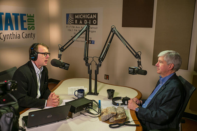 MPRN's Rick Pluta and Gov. Rick Snyder on Michigan Calling.