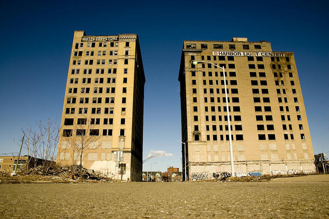 the two abandoned hotels