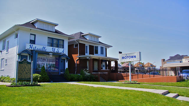 outside of hitsville usa and motown museum building