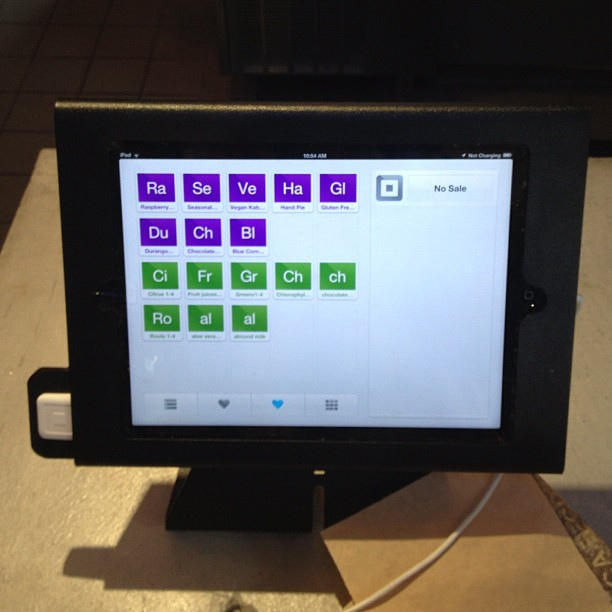 ipad using point of sale application