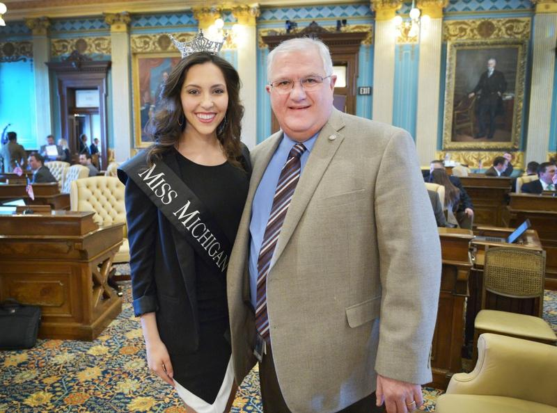 Senator Dale Zorn Miss Michigan KT Maviglia