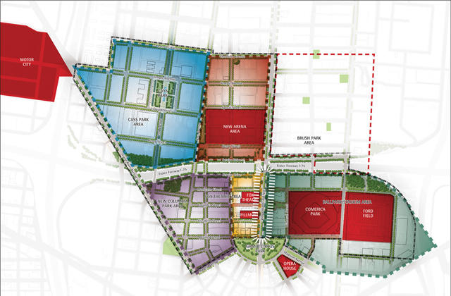 Outline of proposed rezoning for Red Wing stadium.