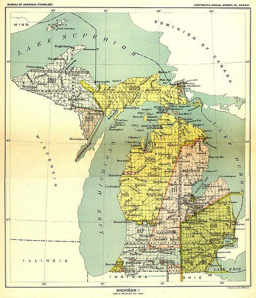 Todays property lines are based on the 200yearold Michigan