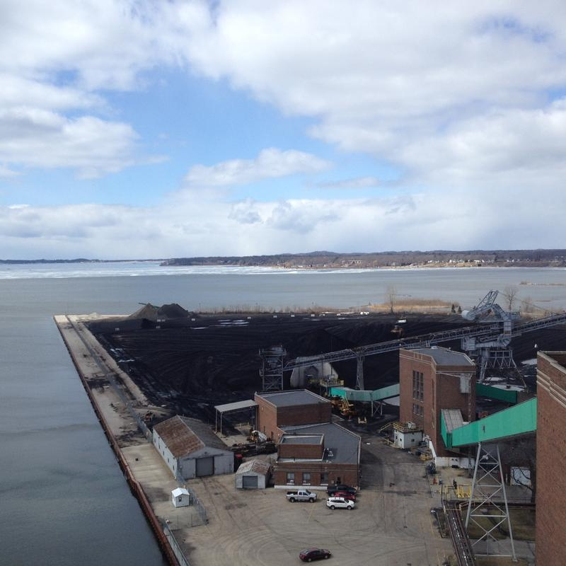 The view from the roof of the power plant.
