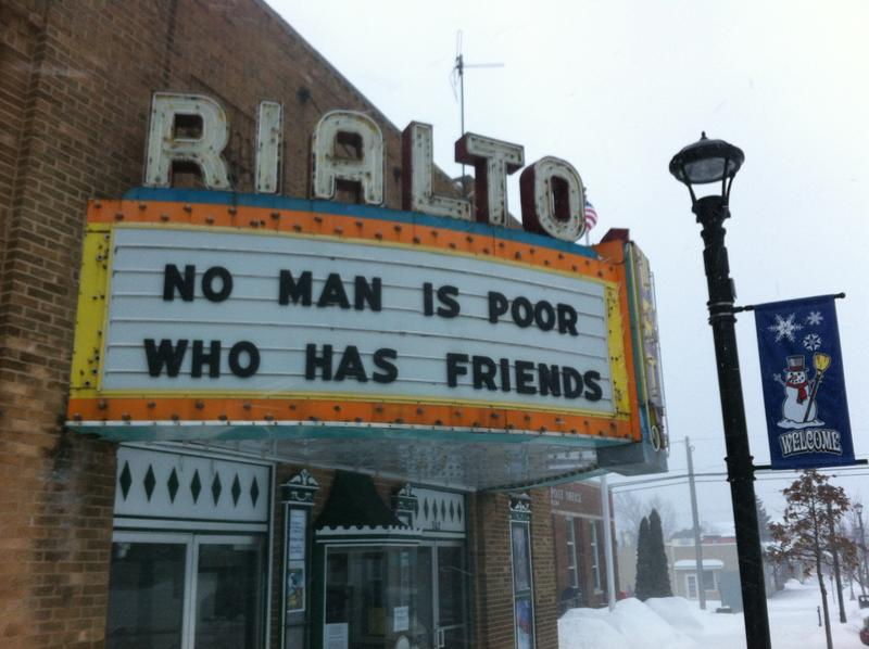 The Rialto Theatre in Grayling is celebrating its 100th anniversary