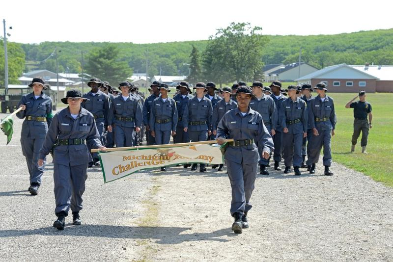 Cadets from the Michigan Youth Challenge Academy
