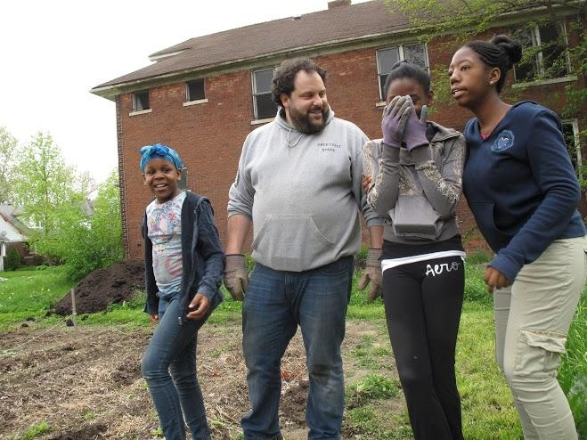 From left, Antonique Johnson, Noah Purcell, Jasmin Bradley and Destiney Johnson take a break from gardening chores. The Eden Gardens Block Club and its volunteers works hard to provide a clean neighborhood for residents.