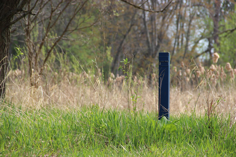 A monitoring well along the Kalamazoo River.