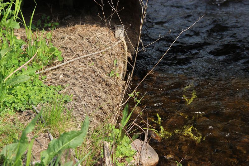Enbridge removed oil and reconstructed the river bank along Talmadge Creek.