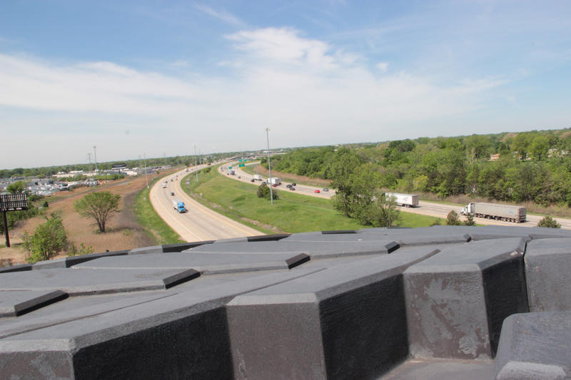 On top of the Giant Tire looking west down I-94.