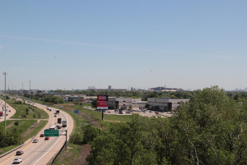 Looking east down I-94 toward Detroit.