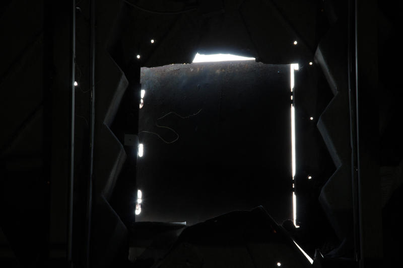 A view from the inside of the Giant Tire.