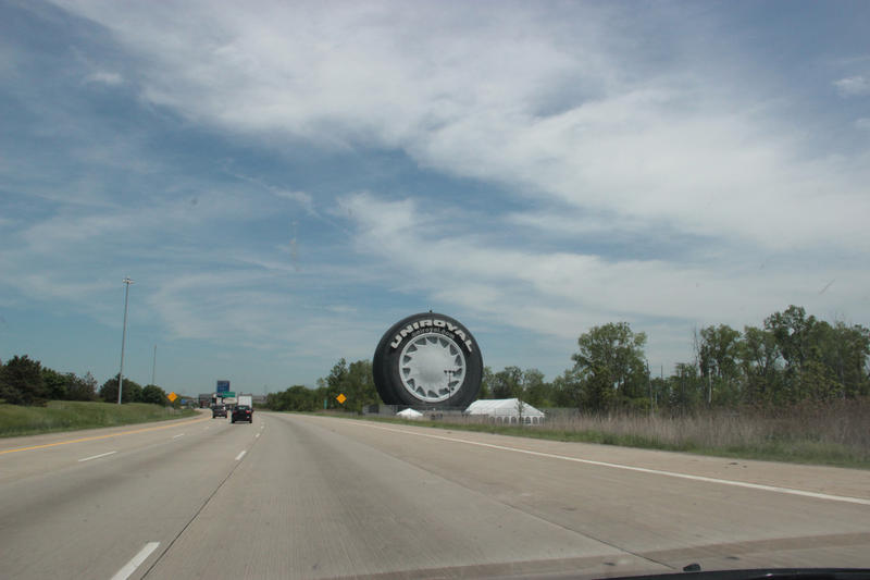 How most people see the Giant Tire as they drive to Detroit.