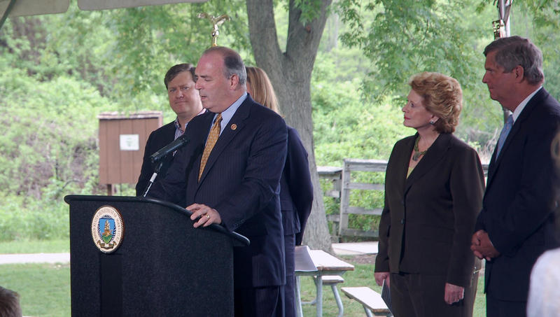 Congressman Dan Kildee speaks at the announcement of the USDA's Regional Conservation Partnership Program on Tuesday, May 27, 2014.