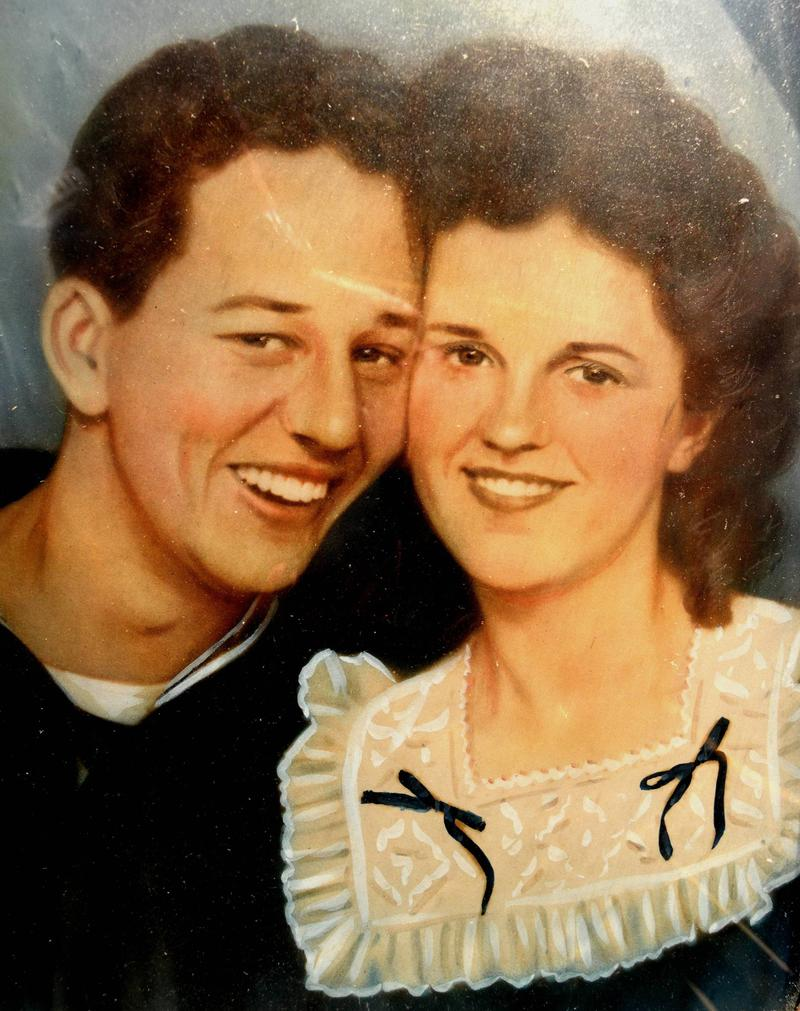 Bill and Odie Berkley shortly after they were married in 1946.