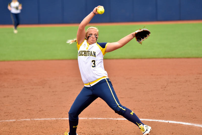 U of M pitcher Megan Betsa.