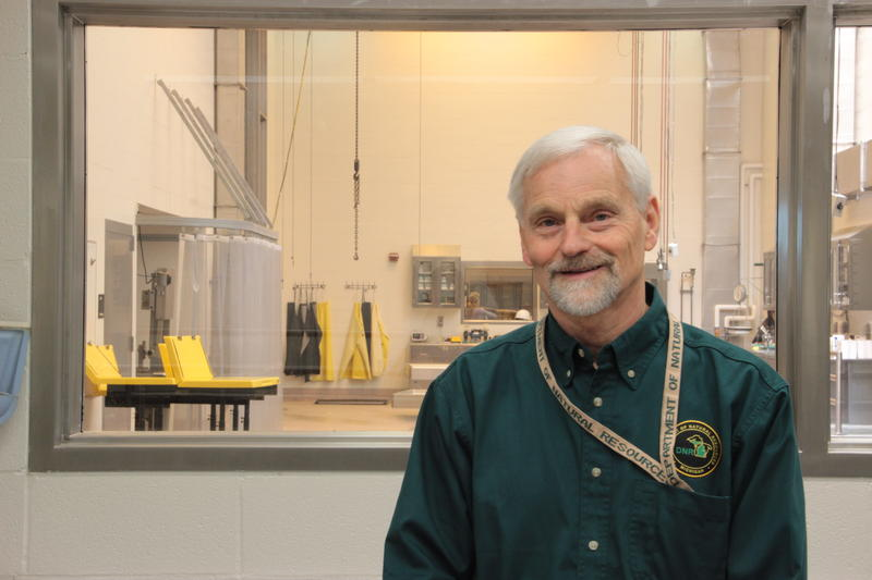 Dr. Steve Schmitt is the Michigan DNR's veterinarian-in-charge.