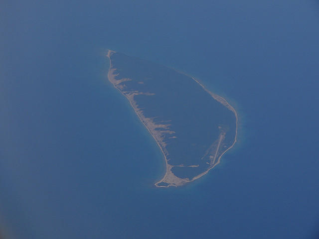 an island from above