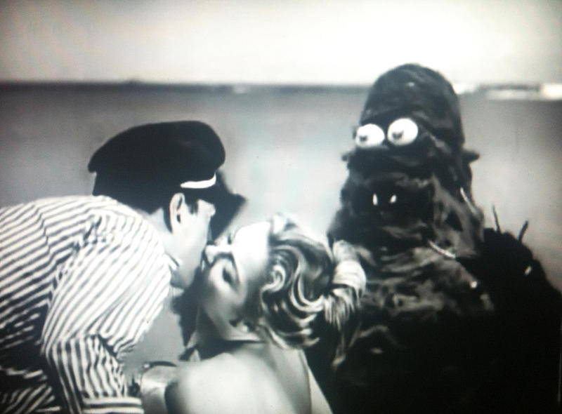 "A scene from Roger Corman's 1961 comedy horror ""Creature from the Haunted Sea"""