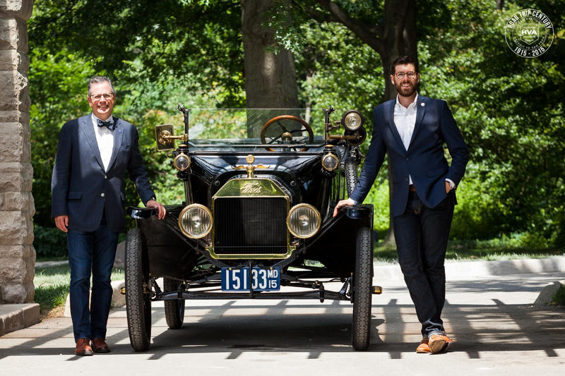 Mark Gessler (L) and Casey Maxon (R) will be driving the Model T.