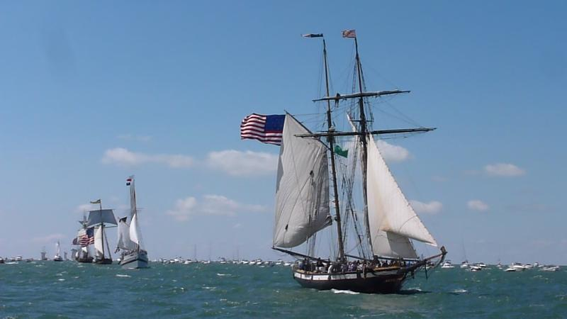The bicentennial reenactment of the battle of Lake Eerie