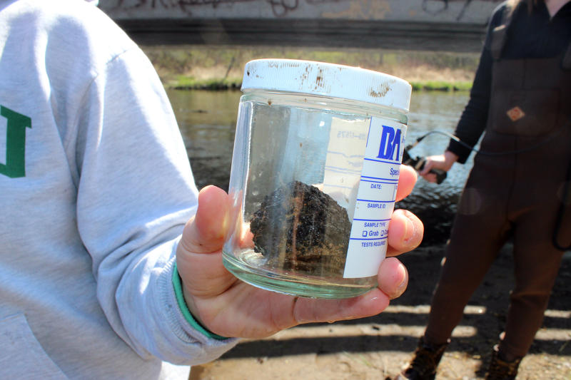 Samples we dug out of the Kalamazoo River in April 2015 to be tested for markers of the surfactant corexit.